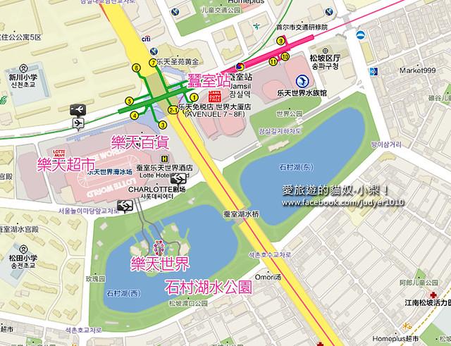 蠶室站地圖