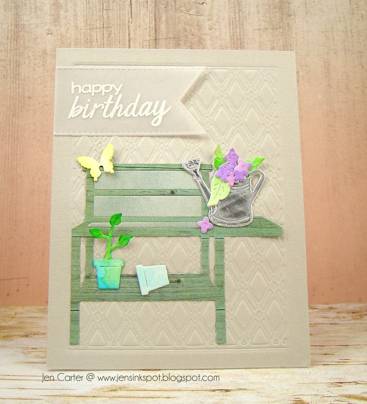 Jen Carter Potted Flower Birthday Front