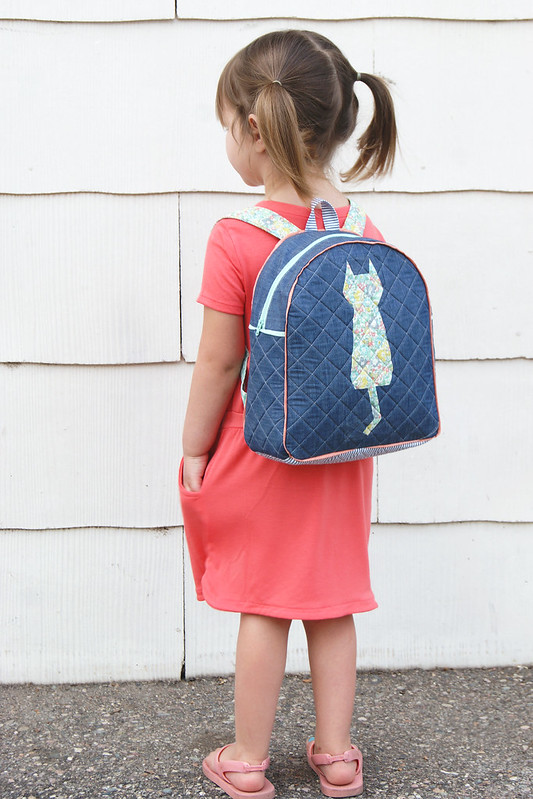 Kitten Around Block Sew Along - Toddler Backpack