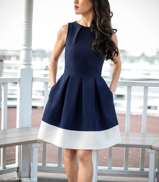 modcloth navy white nautical fit flare dress