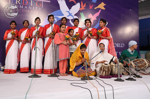 Welcome song by devotees from Nijibabad