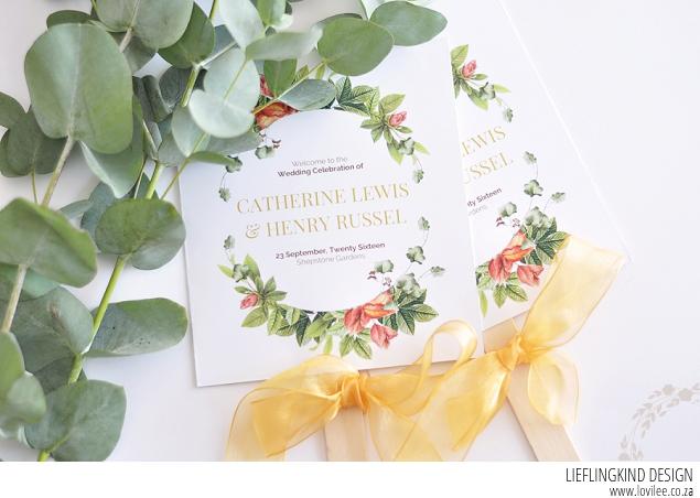 Paddle fan DIY wedding program and printable | Lovilee Blog