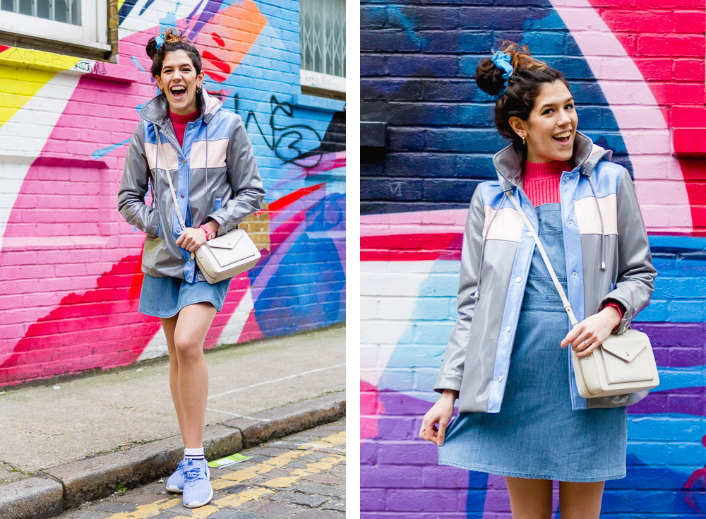 Shoreditch london colourful girly outfit