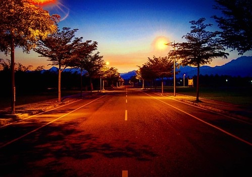road morning blue trees light sky sun mountain mountains color tree bird sunshine clouds sunrise square happy photography photo nikon flickr taiwan squareformat 台灣 屏東 pingtung 日出 d90 nikond90 iphoneography instagramapp