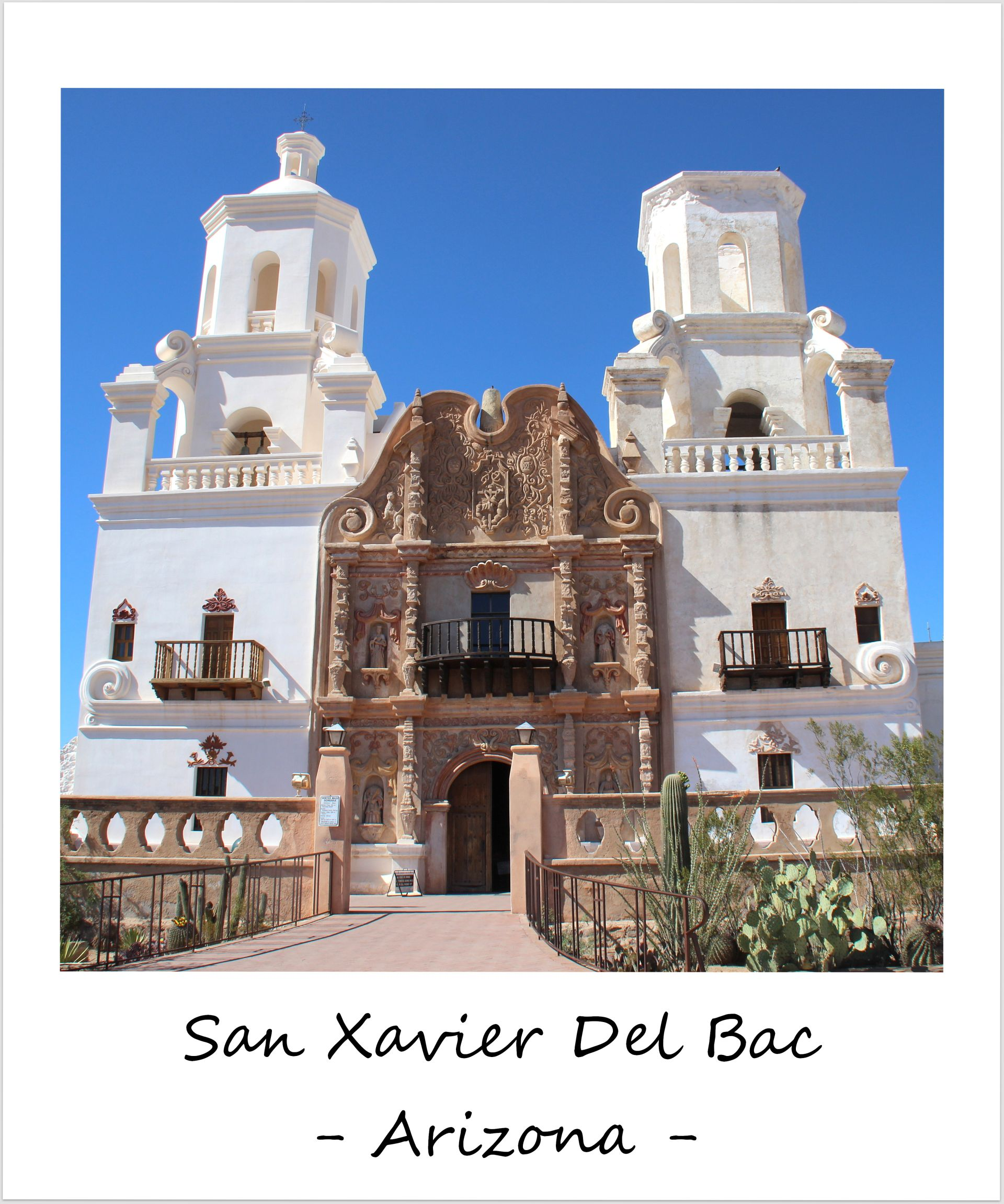 polaroid of the week usa arizona san xavier del bac mission