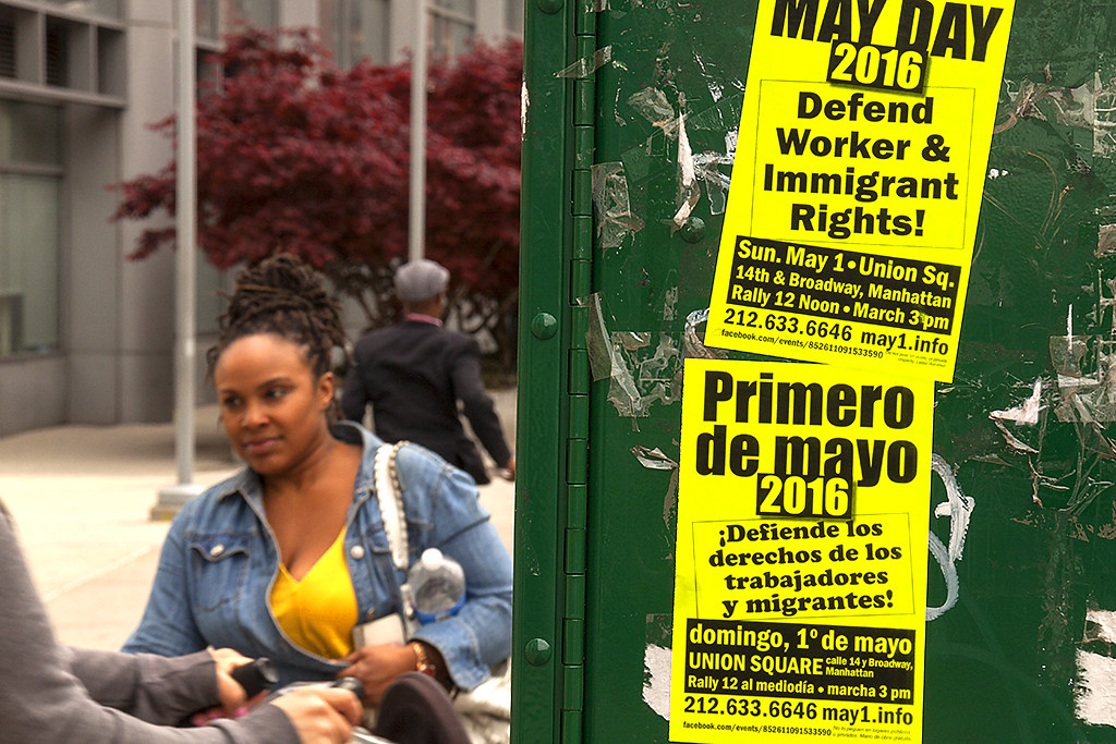 May Day flyers--Washington Heights 2
