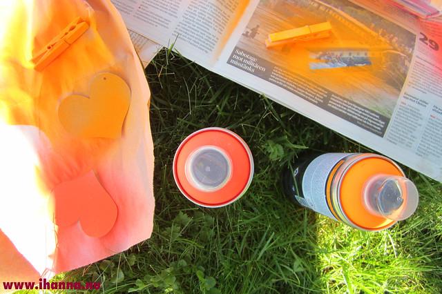 Neon oranges in spray bottles by iHanna