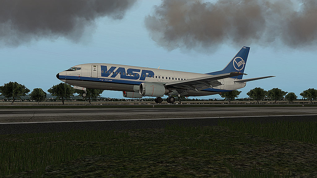 737-300 Vasp pousando em SBGL 26633365022_46b9d5daf6_b