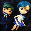 #sailormercury #pullip #pullipdoll #sailormoonpullip #sailormoonpullipdoll #pop #funkopop #sailormoonpop #doll  #dollstargram I found Sailor Mercury and Tuxedo Mask pops at Hot Topic yesterday, I couldn't resist taking a picture of the pop with the Pullip