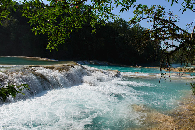 Agua Azul, Mexico - Blue-water Falls