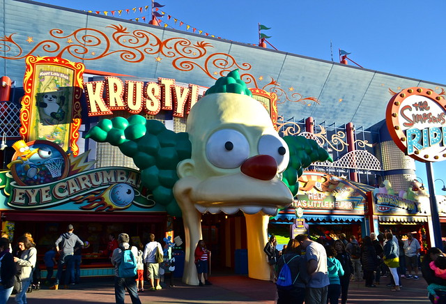 krusty land, simpsons - Universal Studios in Florida