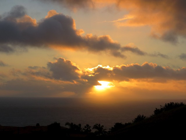 malibu sunset after the storm