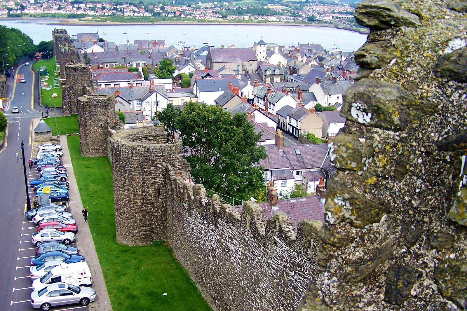Medieval walls surrounding the town of Conwy, Wales. Credit One lucky guy