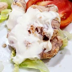 huevas cocidas con #mayonesa #mayonnaise #tapas...