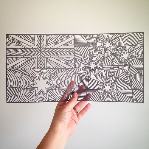 Australian Flag Paper Cutting - Pretty Paper Dreams