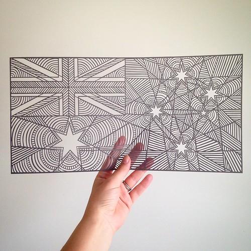 Australian Flag Paper Cutting - Pretty Paper Dreams