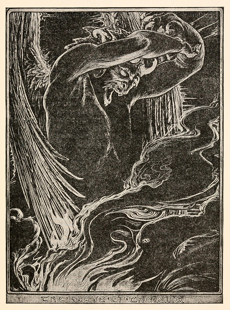 "John D Batten - Illustration from The Story Of Aladdin, ""Fairy Tales From The Arabian Nights,"" 1915"