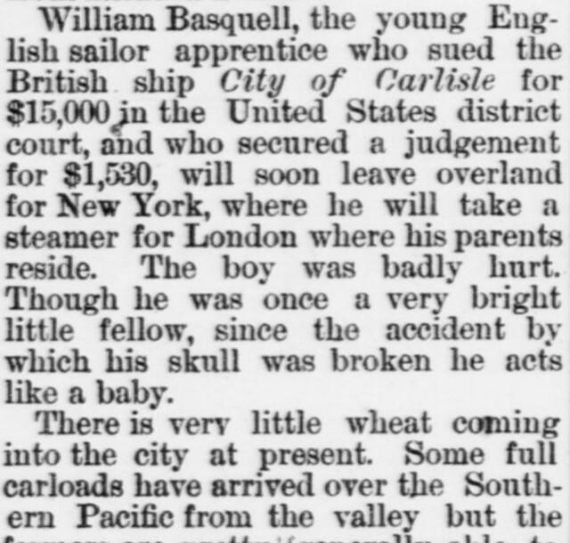 The Daily Morning Astorian (Astoria, Oregon) 1889 September 8 page 2 column 2