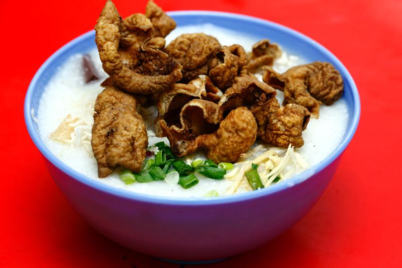 Fried Pork Intestines Porridge Jinjang
