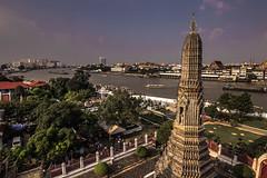 Temple Of Dawn overlooking Bangkok
