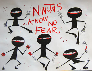 8 - Fearless - Ninjas - Art Journal Page