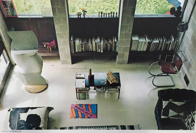 Home of Architect Colin St. John Wilson, Cambridge, England 1972. Enviable library, plus the great Dumont Art '70 calendar lying on the floor. From GI # 3: Northern Europe.