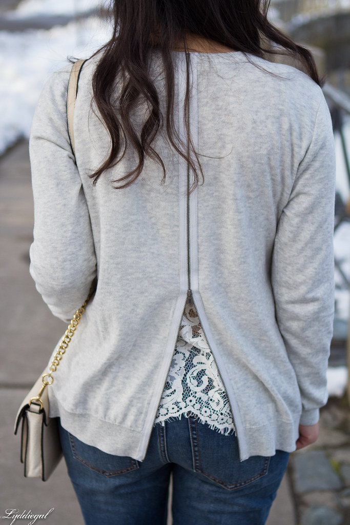 Cabi lace back top, grey cardigan, distressed denim, silver pumps-4.jpg