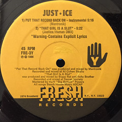 JUST-ICE:PUT THE RECORD BACK ON(LABEL SIDE-B)
