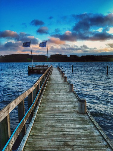 ocean sunset denmark pier fjord 海 夕焼け kolding デンマーク 桟橋 koldingfjord フィヨルド iphoneography vscocam コリング