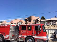 LAFD Stops Spread of Duplex Fire