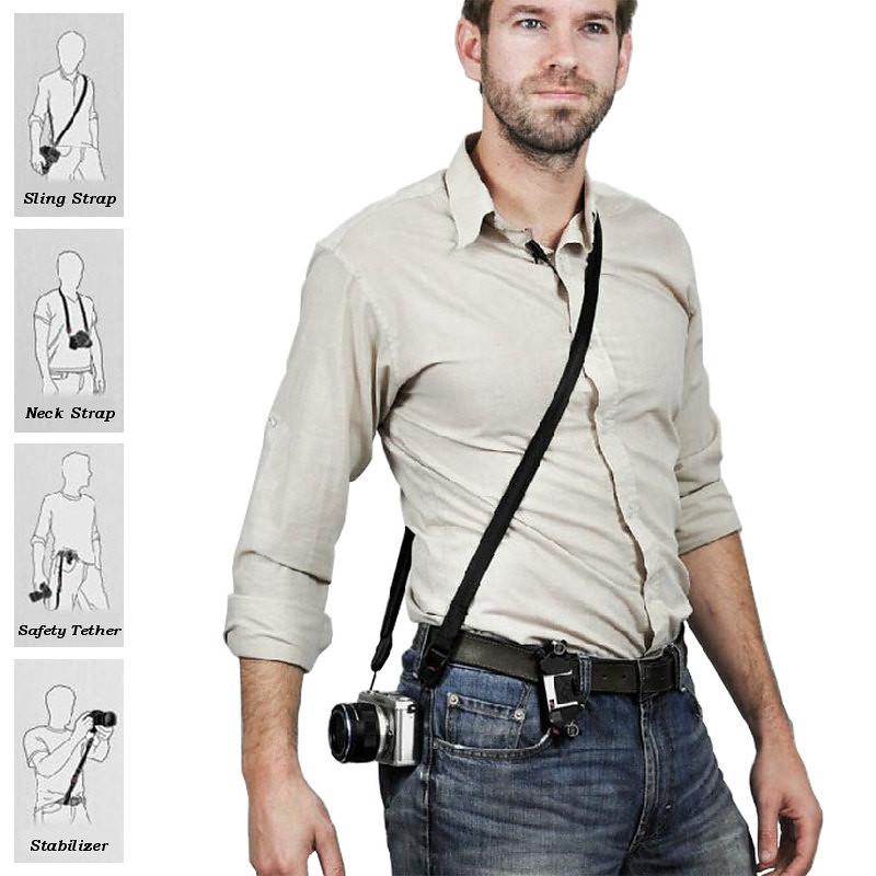 peak design multi function quick release sling leash neck strap