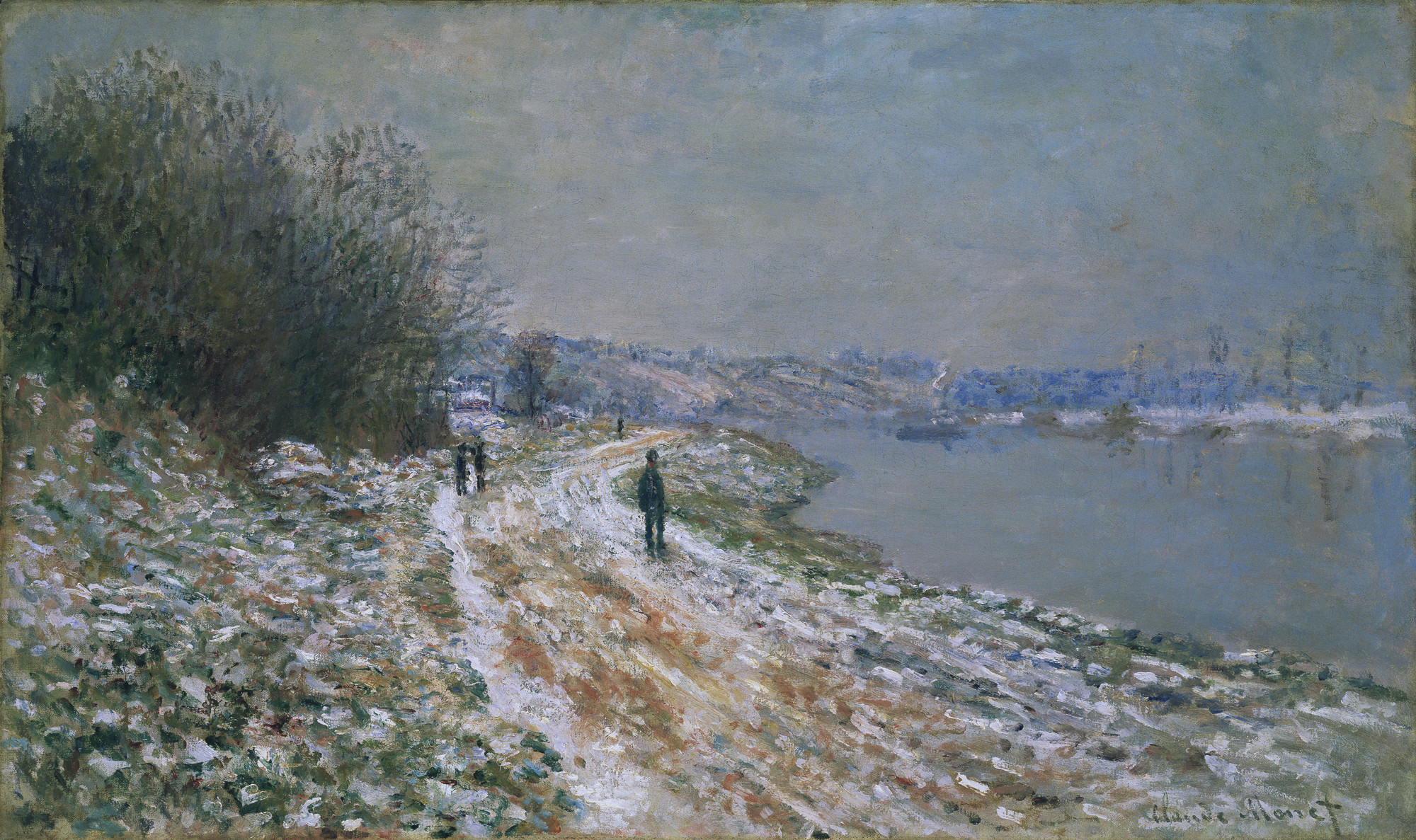Claude Monet - The Tow Path at Argenteuil [c.1875] | Gandalf's Gallery