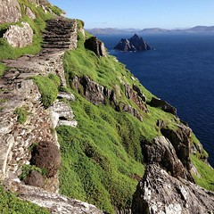 Happy St. Patrick's Day! This is a shot from one of my all-time favorite places, the island of Skellig Michael off the western coast of Ireland and County Kerry. The island is known for consistently poor weather. The day we visited, the seas were almost e