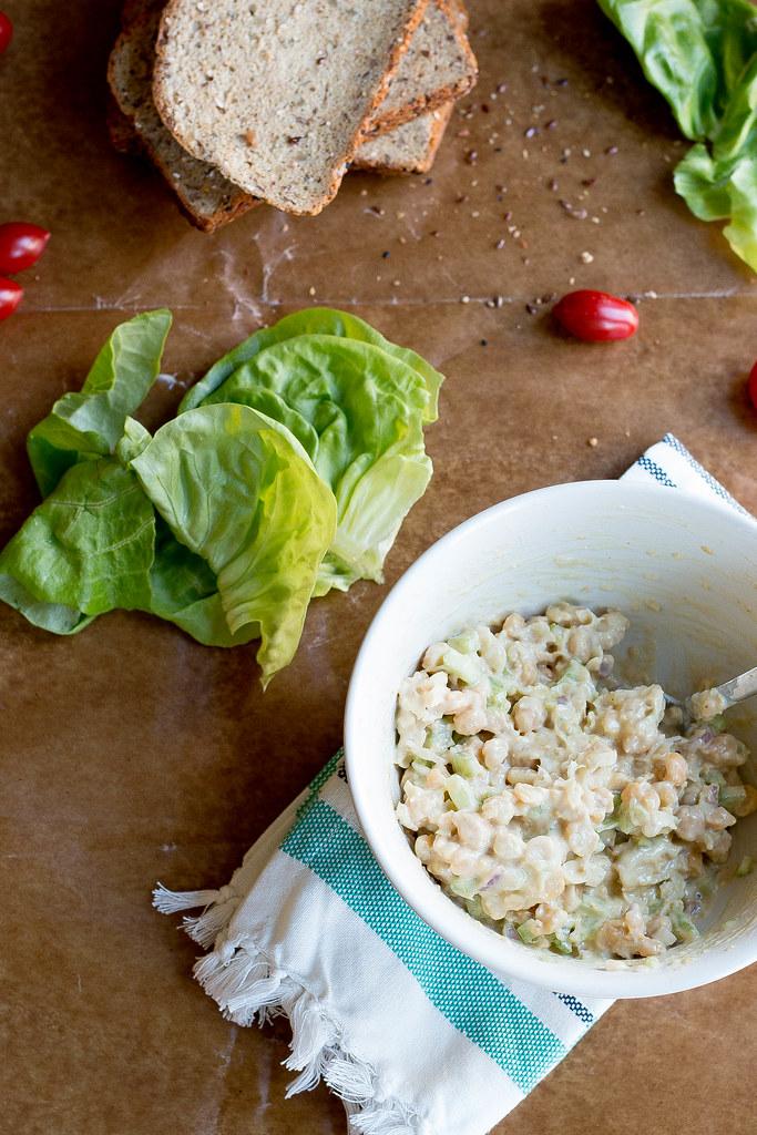 chickpea salad sammie