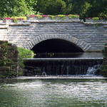 Sun, 01/01/2006 - 5:48pm - Glen Miller Park bridge flowers waterfall