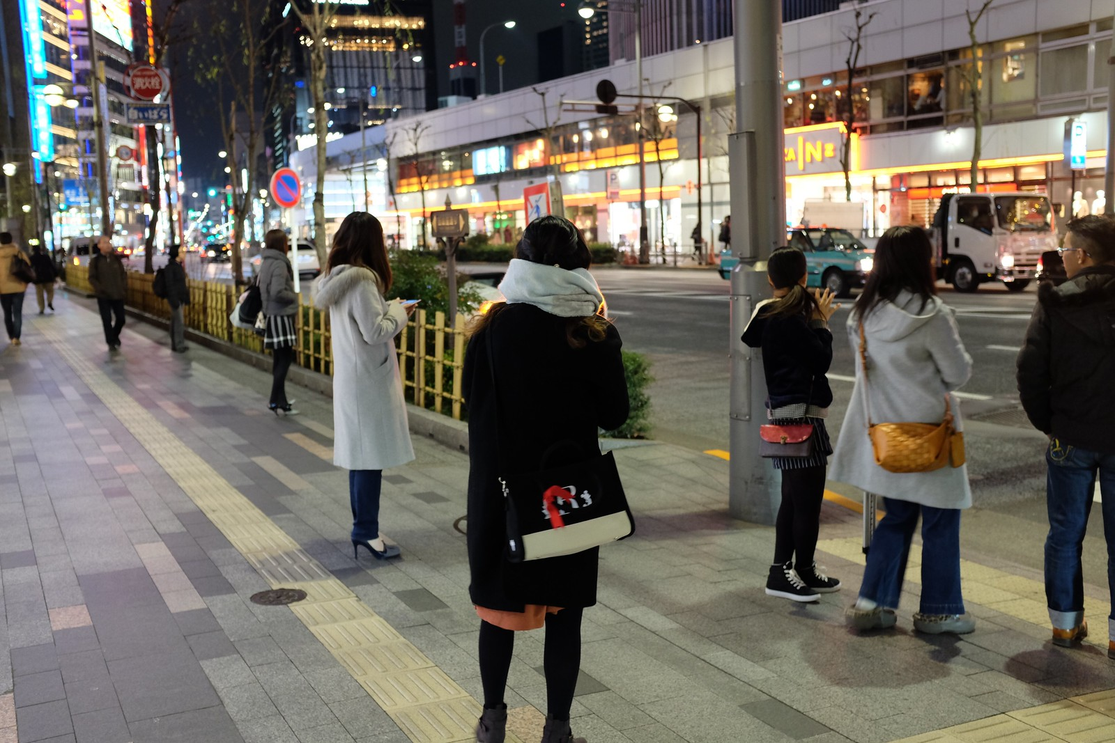 The night at Ginza in Tokyo, Japan.