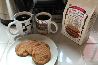 Everyday Coffee in the City - Peet's Coffee Arabian Mocha Java Trader Joes Ginger Cookie