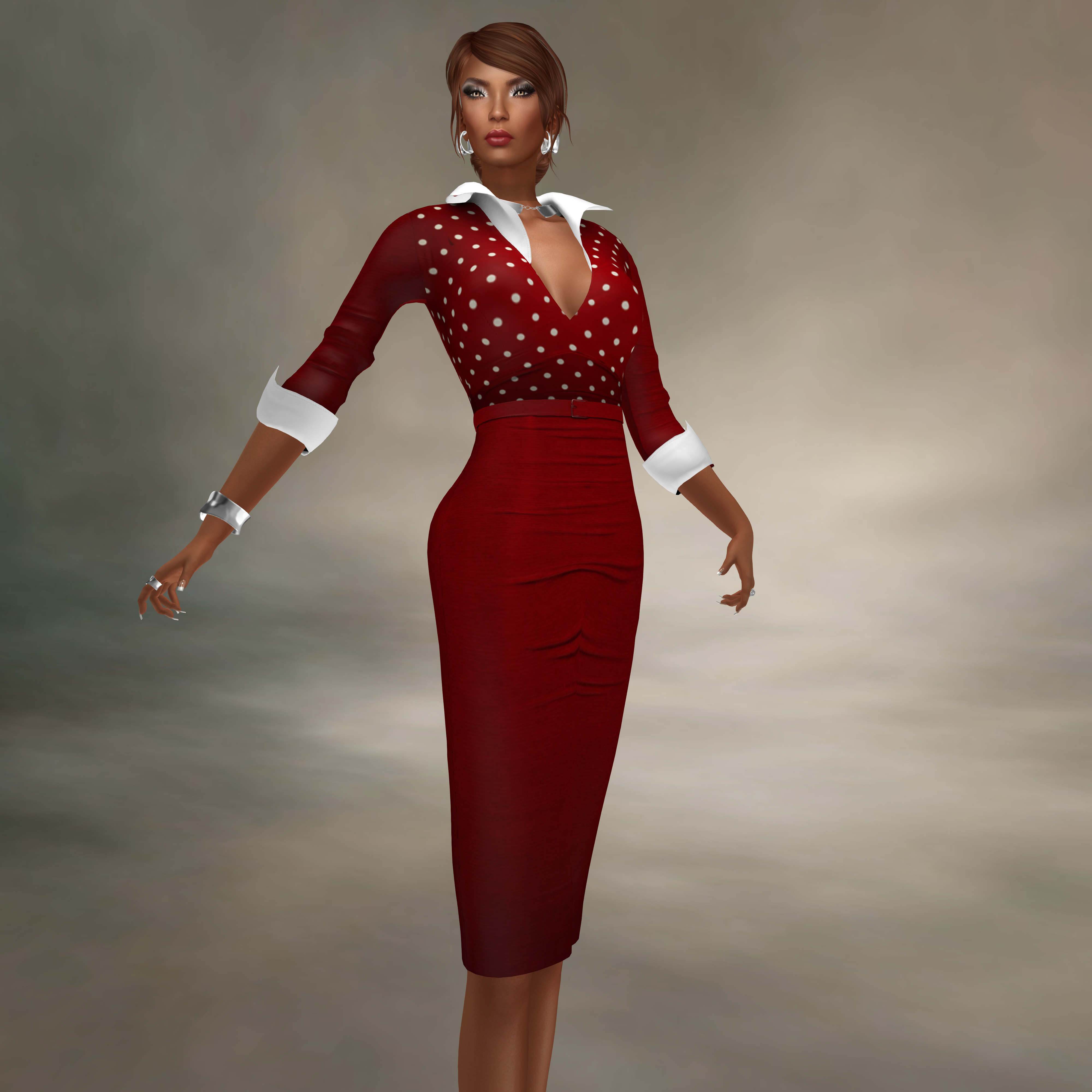 AnaMarkova@Designer Showcase- Katina (Scarlet polka)