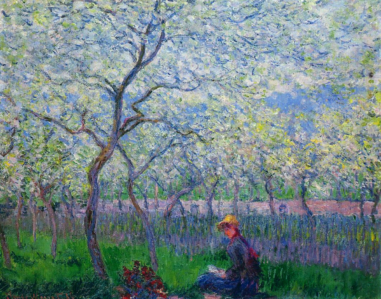 An Orchard in Spring by Claude Monet, 1886