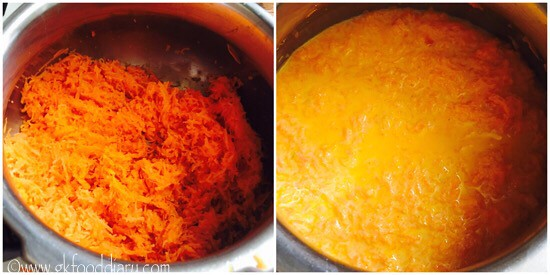 Carrot Halwa Recipe for Toddlers and Kids - step 3
