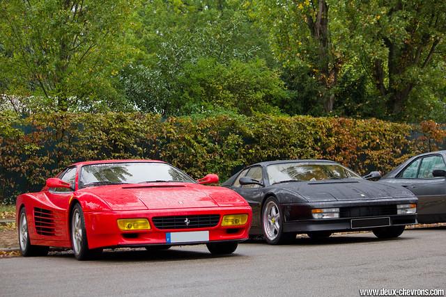 Cars & Coffee Paris 10/2011 - Ferrari 512TR & Testarossa