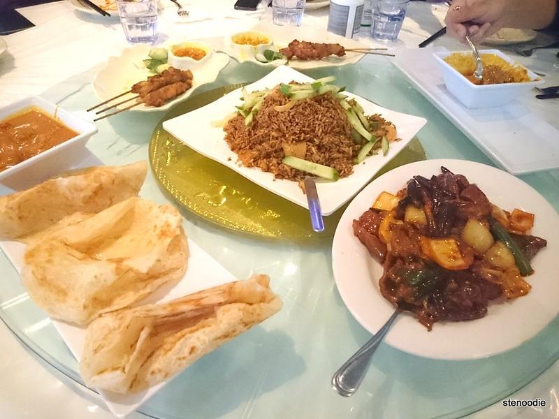 Spread of Malaysian food