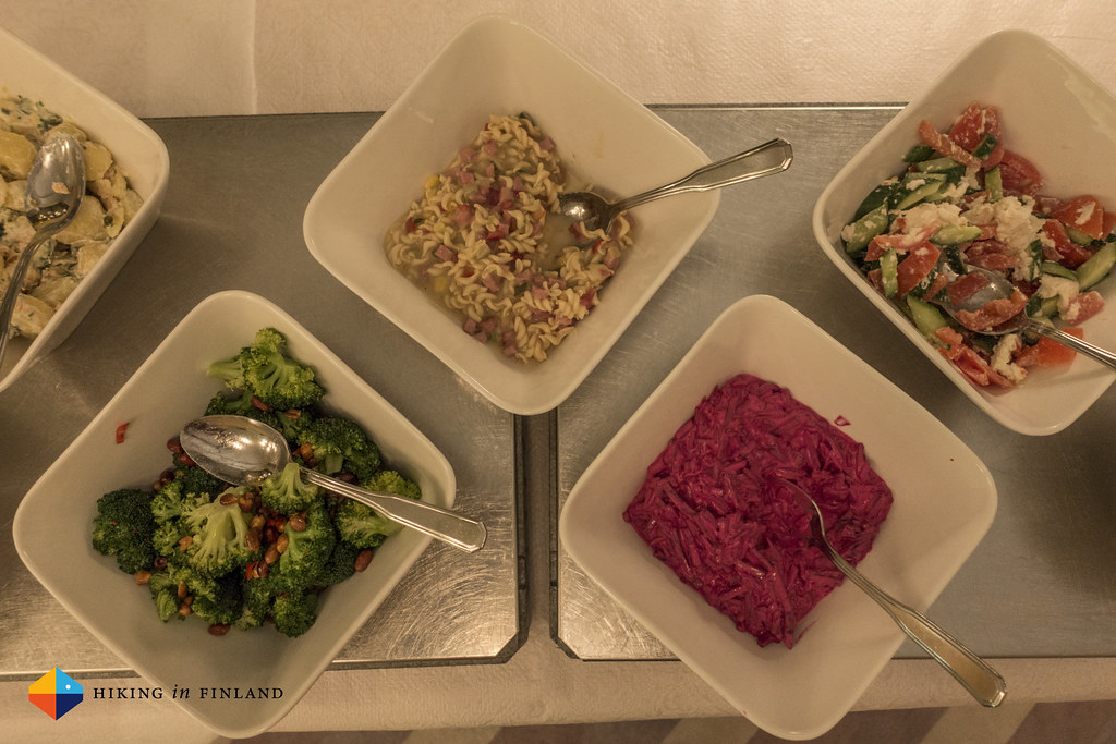 Salad buffet at Lapland Hotel Hetta