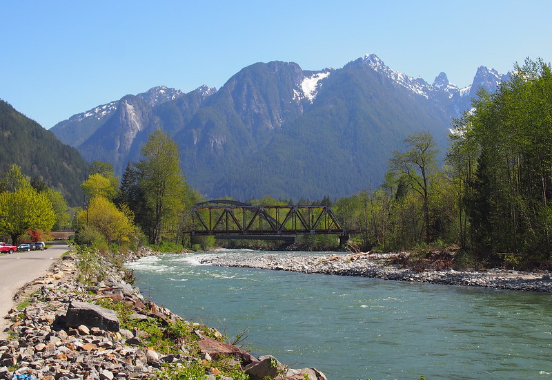 Mountains Over North Fork Skykomish