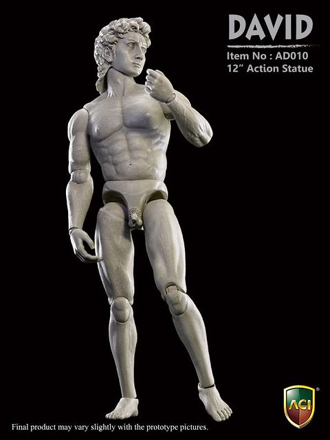 ACI Toys 12吋動感雕像系列 - 大衛像 & 大衛像(搞笑版)