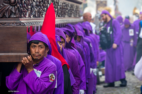 Cucuruchos in purple - Semana Santa in Antigua, Guatemala | by Phil Marion
