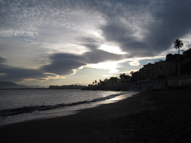 Malaga from the beach