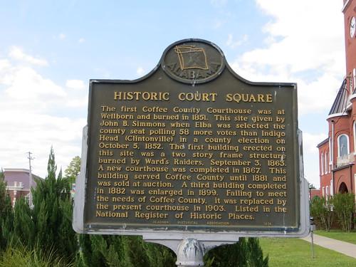 Historic Court Square Marker Elba AL
