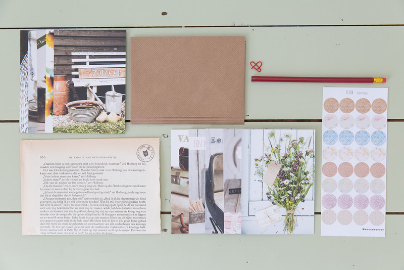 schrijfset mini brocante kaarten en schrijfwaren