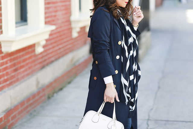Worth New York Trench Coat Navy Workwear Corporate Catwalk what to wear to work trends for spring8